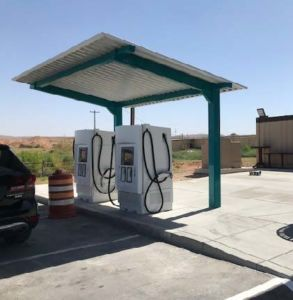 EV Charging station located at the AM/PM in Glendale, NV